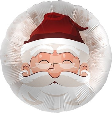 Santa / Weihnachtsmann Folienballon - 45cm