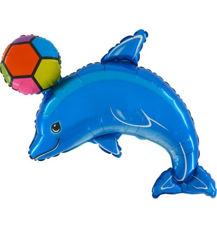 Folienballon Delfin mit Ball