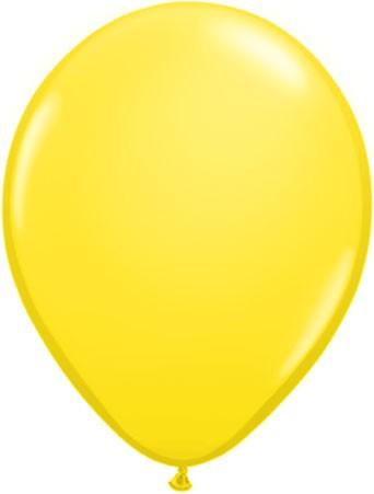 "Qualatex Standard Yellow (Gelb) 27,5cm 11"" Latex Luftballons"