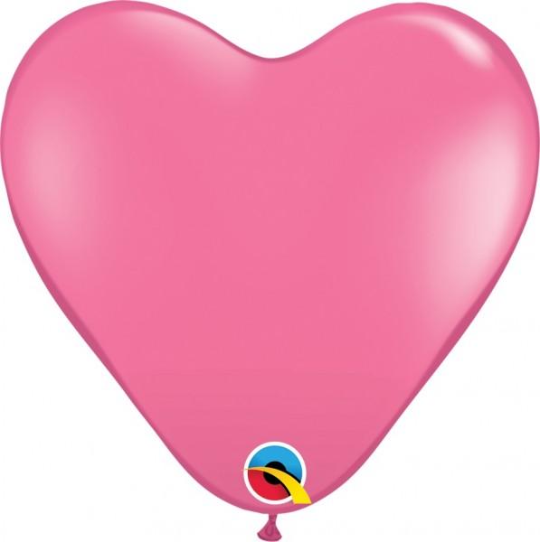 "Qualatex Herz Fashion Rose Pink 38cm 15"" Latex Luftballons"