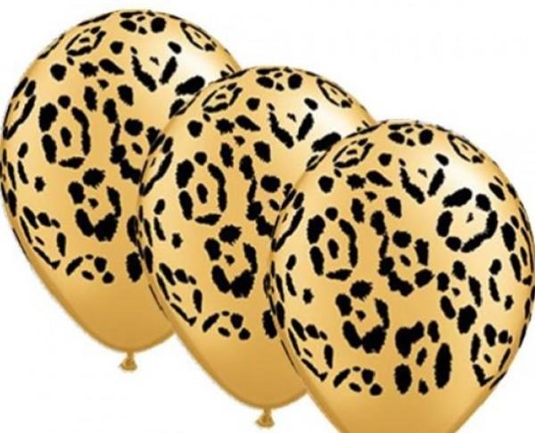 "Qualatex Tierdruck Leopard 27,5cm 11"" Latex Luftballons"