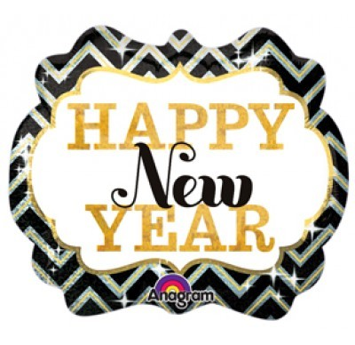 Happy new year Folienballon - 63 x 55 cm