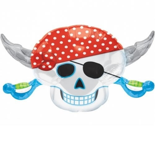 Piratenkopf Skull Folienballon - 71cm