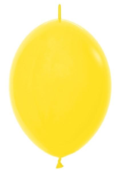 "Link o Loon 020 Fashion Yellow (Gelb) 30cm 12"" Latex Luftballons Sempertex"