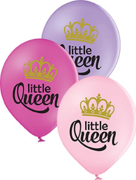 """Little Queen Pastel Sortiment 30cm 12"""" Latex Luftballons Belbal"""