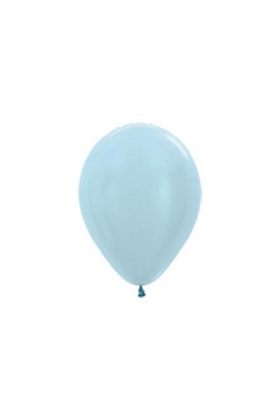 "Sempertex 440 Satin Pearl Blue 12,5cm 5"" Latex Luftballons"