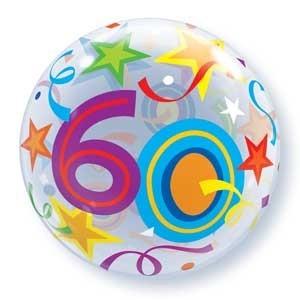 """Qualatex Bubble Brilliant Stars 60 22"""" 56cm Luftballon"""