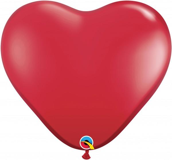 Riesenluftballon Herz Jewel Ruby Red (Rot) 90cm