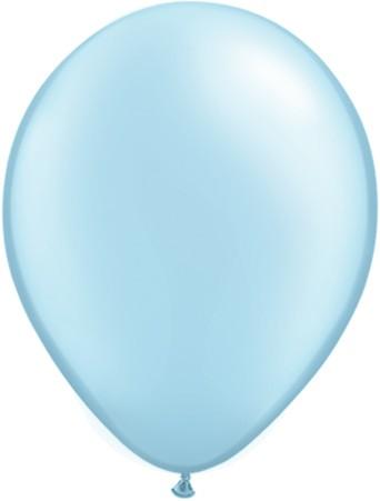 """Qualatex Pearl Light Blue Hellblau 12,5cm 5"""" Latex Luftballons"""