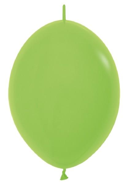"Link o Loon 031 Fashion Lime Green (Hellgrün) 30cm 12"" Latex Luftballons Sempertex"