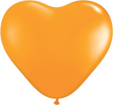 "Qualatex Herz Orange 15cm 6"" Latex Luftballons"