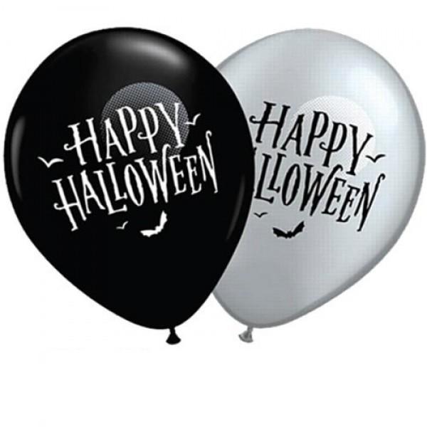"Qualatex Happy Halloween 27,5cm 11"" Latex Luftballons"