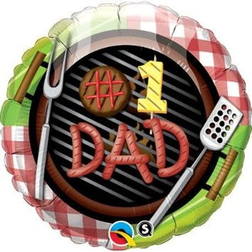 Dad Number One Grill Folienballon