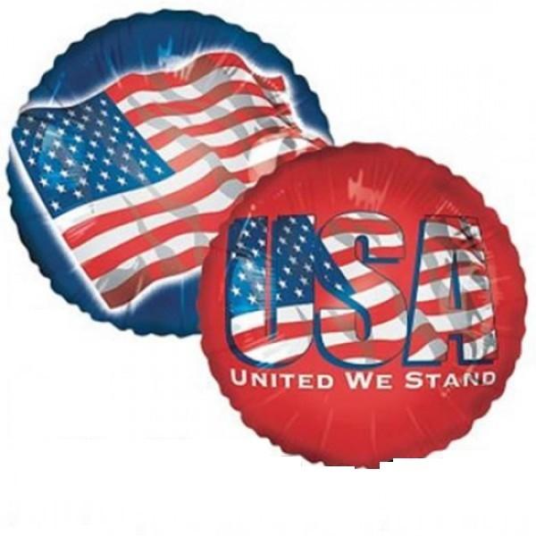 USA Flagge Folienballon - 45cm