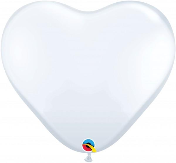 "Qualatex Herz Standard White Weiß 90cm 36"" Latex Riesenballons"