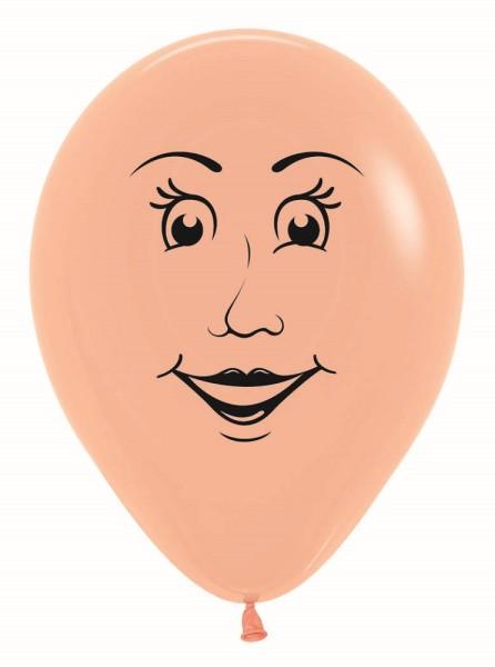 """Gesicht Frau Face Woman Fashion Blush 30cm 12"""" Latex Luftballons Sempertex"""
