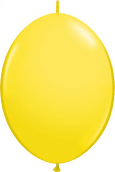 "QuickLink Standard Yellow (Gelb) 15cm 6"" Latex Luftballons Qualatex"