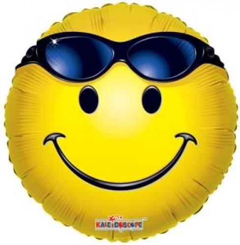 Smiley mit Brille - 45cm