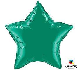 Stern grün Folienballon - 50cm - Qualatex
