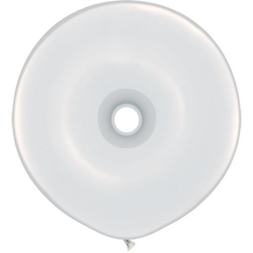 GEO Donut White Weiß 40cm 16'' Qualatex Luftballons