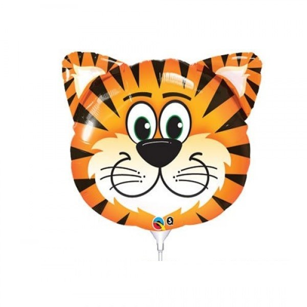 Mini Folienballon Tiger Kopf - 35cm