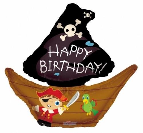 Piratenschiff Geburtstag Folienballon - 71cm