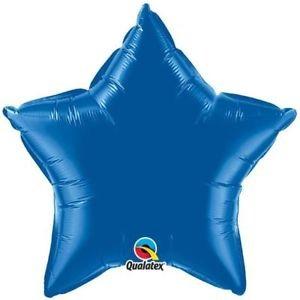 Stern blau Folienballon - 50cm - Qualatex