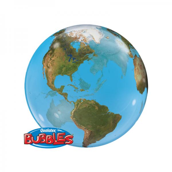 "Qualatex Bubble Planet Erde 22"" 56cm Luftballon"