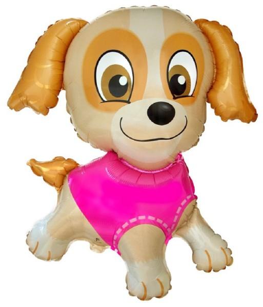 Hund Welpe Puppy Pink Folienballon - 76 x 79cm