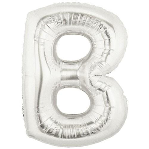 Buchstaben B silber Folienballon