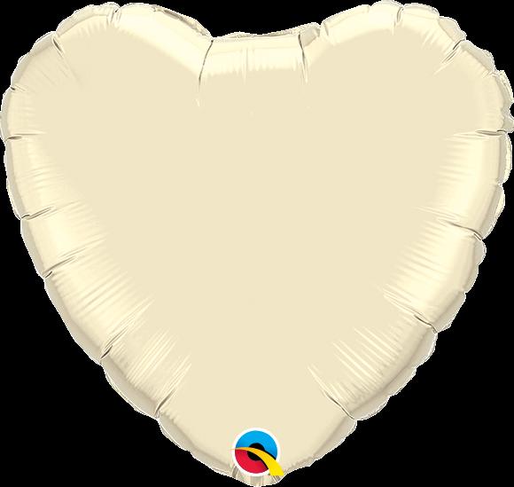 Folienballon Herz Pearl Ivory - 90cm