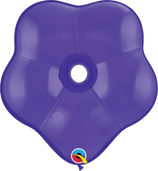 """GEO Blossom Fashion Purple Violet Lila 15cm 6"""" Qualatex Luftballons"""