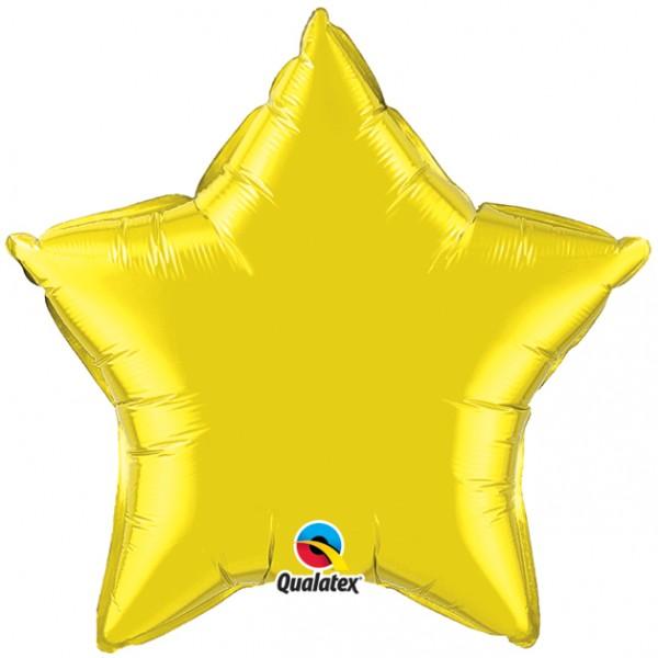 Stern Zitronen gelb Folienballon - 50cm