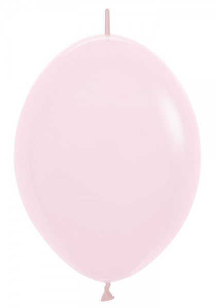 "Link o Loon 609 Pastel Matte Pink (Rosa) 30cm 12"" Latex Luftballons Sempertex"