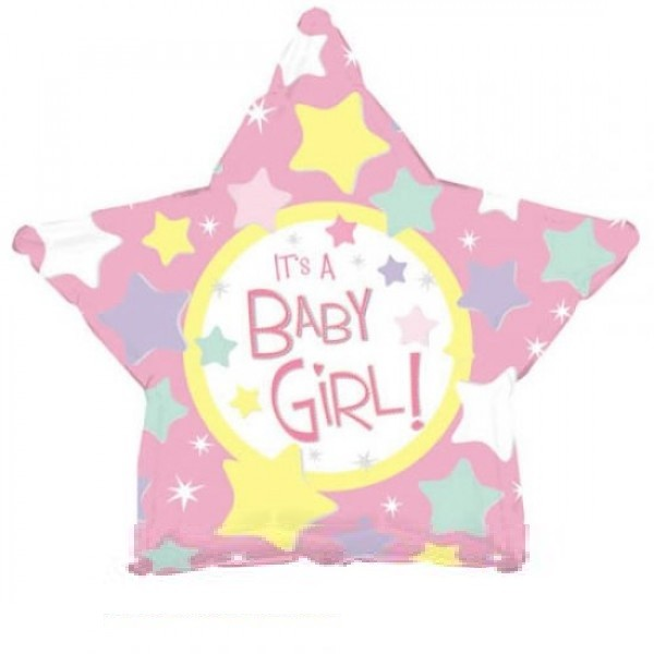 It`s a Baby Girl Stern Folienballon - 45cm