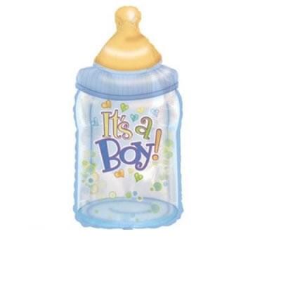 Mini Folienballon Babyflasche It`s a boy - 35cm