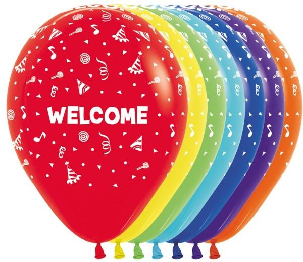 "Welcome Fashion Solid Assortment 30cm 12"" Latex Luftballons Sempertex"