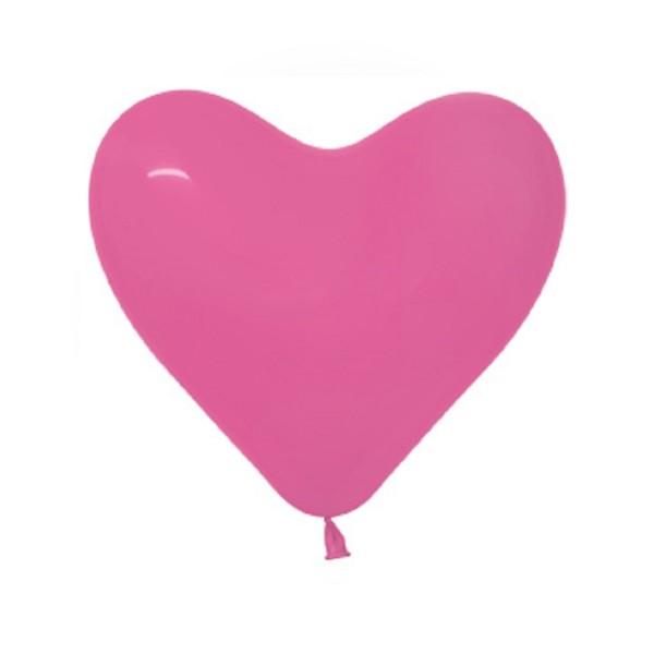 "Sempertex Herz 012 Fashion Fuchsia 30cm 12"" Latex Luftballons"