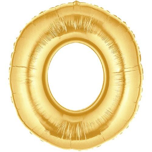 Buchstaben O gold Folienballon