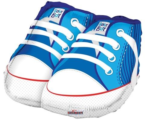 Baby Boy Sneakers Babyschuhe blau Folienballon - 88cm