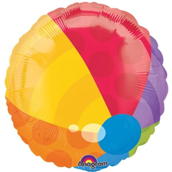 bunter Wasserball Folienballon - 45cm