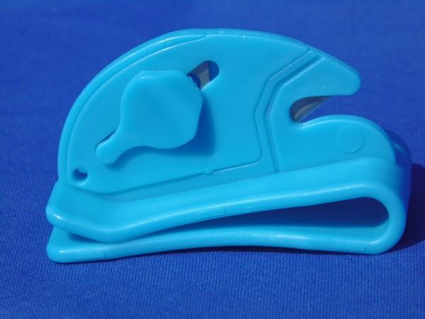 Schneide Gürtelclip blau