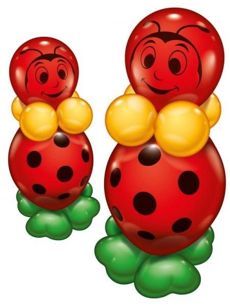 Glückskäfer Ballon 2er Set 20 teilig Latex Luftballon