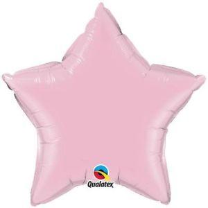 Stern Pearl Pink Folienballon - 50cm - Qualatex