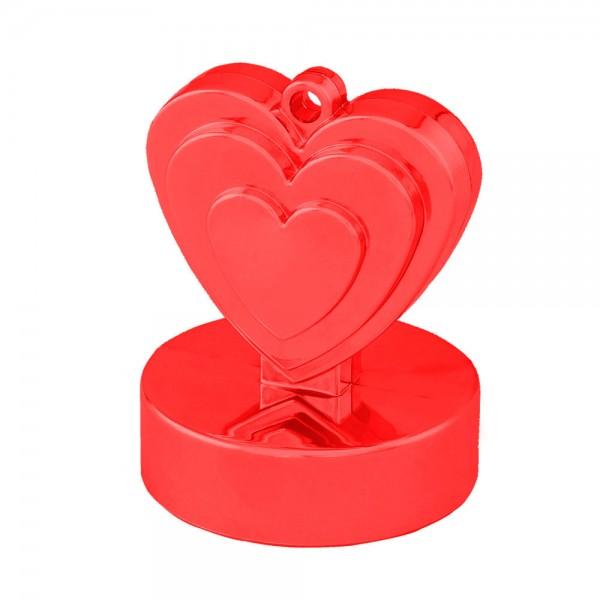 rotes Herz Luftballon Gewicht
