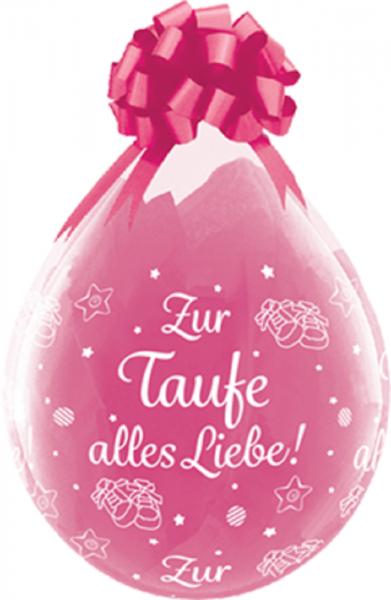 "Verpackungsballons Zur Taufe alles Liebe 45cm 18"" Qualatex Stuffer"