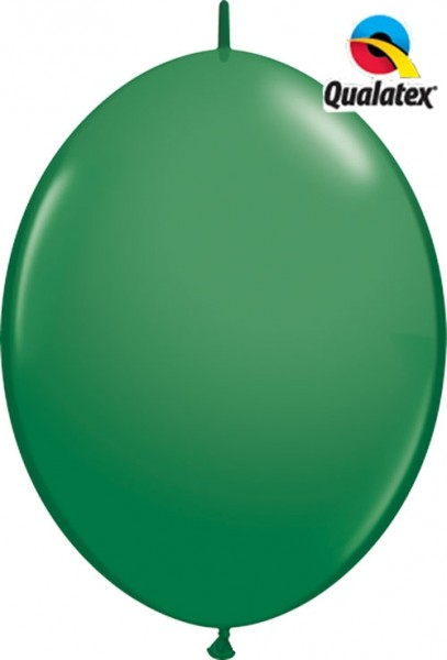 "QuickLink Standard Green (Grün) 30cm 12"" Latex Luftballons Qualatex"