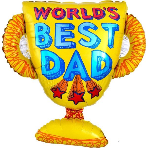 World`s Best Dad Trophee Folienballon 68cm 27""