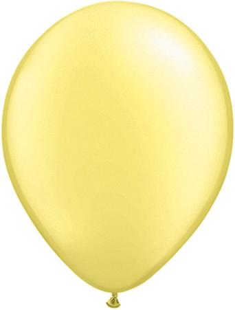 "Qualatex Pearl Lemon Chiffon Gelb 12,5cm 5"" Luftballon"