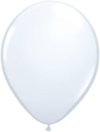 "Qualatex Standard White (Weiß) 27,5cm 11"" Latex Luftballons"